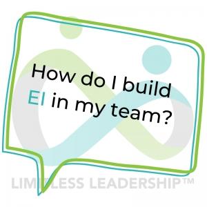 how do i build EI in my team