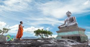 buddha and small monk