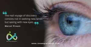 Disruptor Blue Eyes - Marcel proust quote